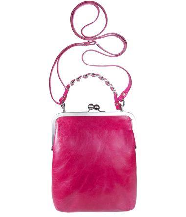 TIFFANY VOLKER LANG Handtasche Leder mit Bügelverschluss clipbag