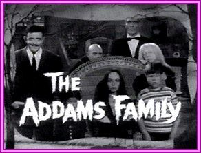 """The Addams Family series was the story of an eccentric family that lived on North Cemetery Ridge. The series aired on ABC as a 30 minute comedy from Sept. 1964 to Sept.1966 with 64 episodes produced. The family was Morticia, Gomez, Uncle Fester, Lurch, Pugsley, d Wednesday, and Grandma. They lived in an old castle looking house filled with odd objects including a dismembered hand named """"Thing"""" which kept popping out of a black box."""