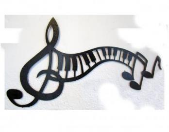 Aplique Nota Musical 56 cm w x 39 cm h $70.000