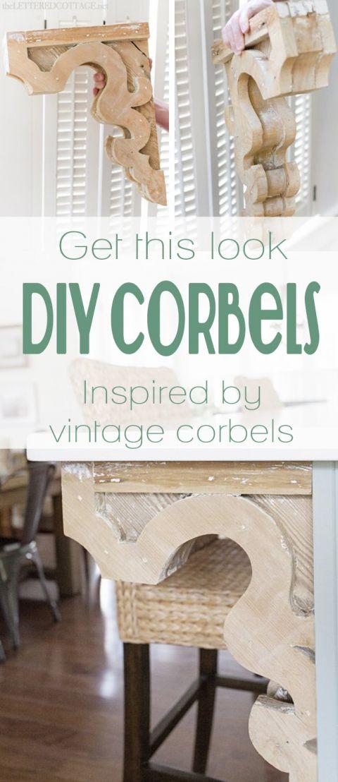 DIY Vintage-Inspired Corbels | pattern and tutorial on Remodelaholic.com #corbel #decorate #diy #woodwork