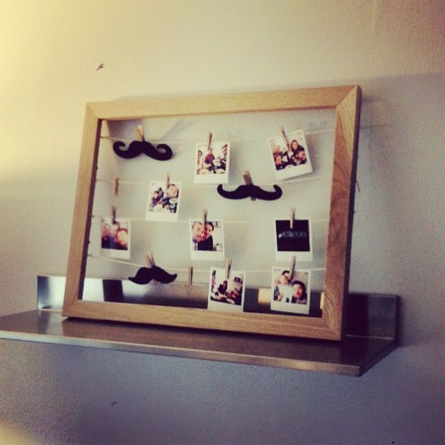#DIY #Pictures #frame #instagram #mustach #deco #home