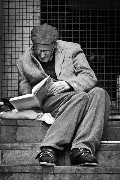 in some situations, reading is about as comfortable as it's going to get...
