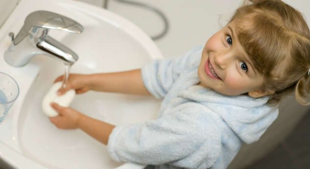 Lecciones de higiene para niños