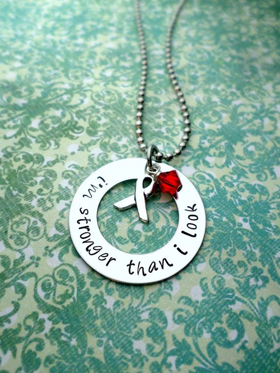 Red Ribbon Necklace Heart Disease Awareness by HandmadeLoveStories, $25.00