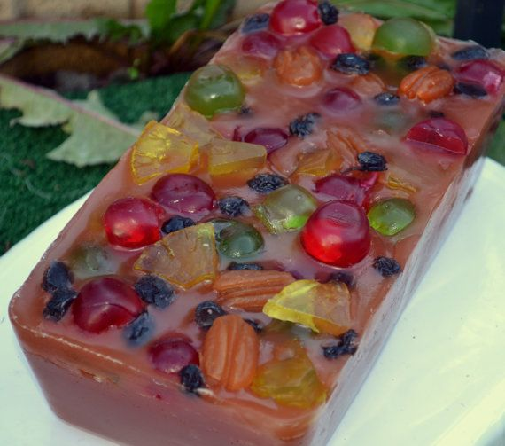 Holiday Fruitcake Soap  AN AJSWEETSOAP EXCLUSIVE by ajsweetsoap, $8.50