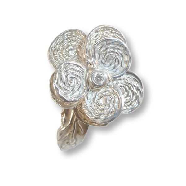 Shiny Swirl ring | Art Styles jewelry | zilver | Studio Art Styles