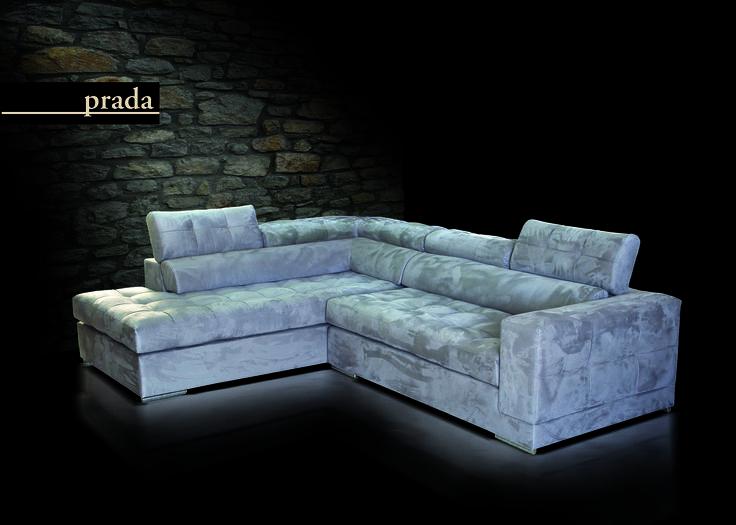 Καναπές γωνία Prada