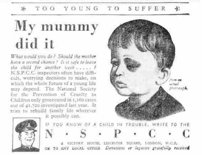 NSPCC. 7 May, 1947.