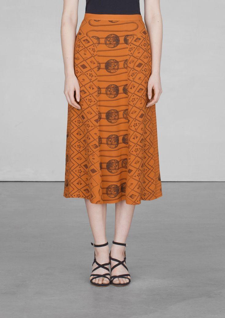& Other Stories | Moon print silk skirt