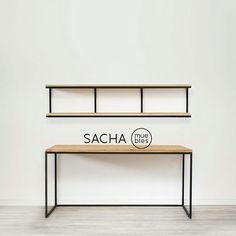 escritorio / mesa / en hierro y madera