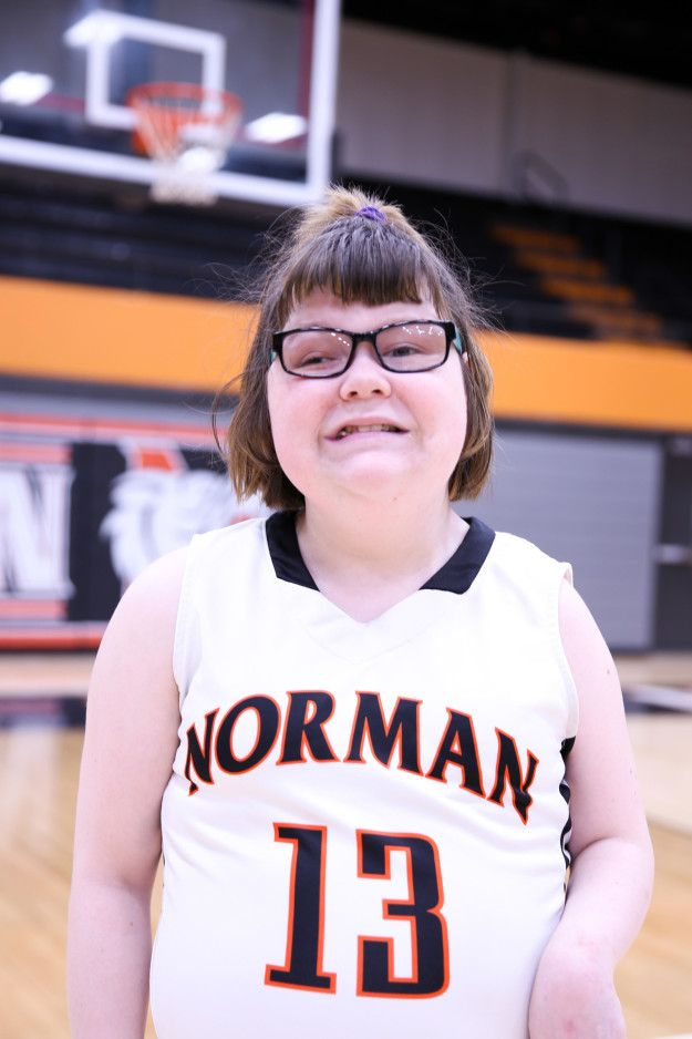 This is Lainy Fredrickson. She's a 21-year-old special needs student at Norman High School in Norman, Oklahoma. | A High School Rallied As A Student With Special Needs Scored A Game-Winning Basketball Shot