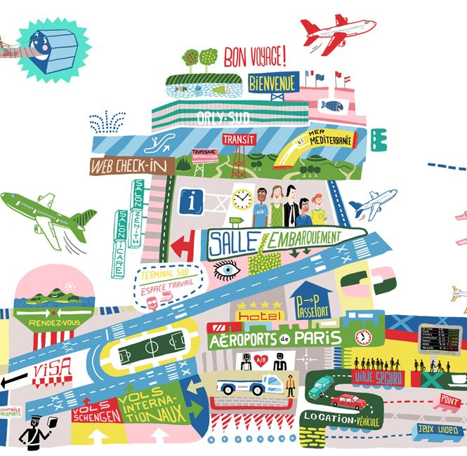 Aéroport de Paris - • Antoine Corbineau • Illustration, Art & Design •