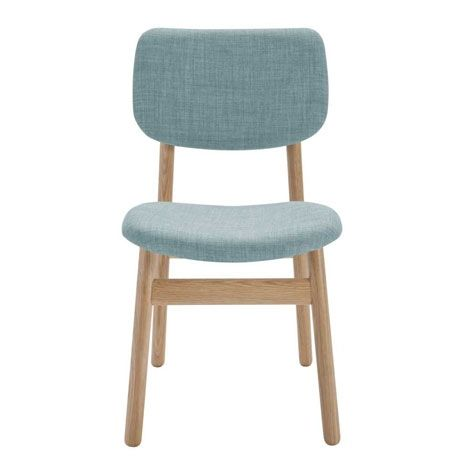 This beautiful, classic shape, dining chair adds a nice contrast to the lemon/lime tones in your ocassional chairs