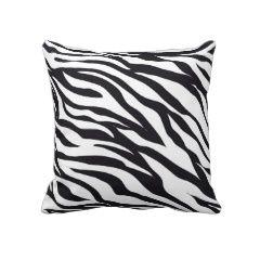 Black and White Zebra Stripes Print Pattern Gifts Pillows
