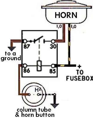 oooga horn wiring diagram 17 best images about tech support on pinterest | horns ... 66 mustang horn wiring diagram #3