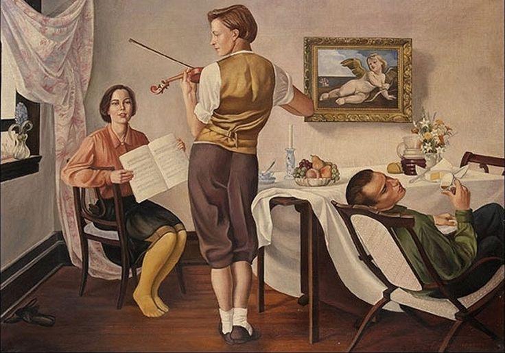 """Gregorio Sciltian (Italian, 1900-1985) - """"Studio di musica"""", 1930"""