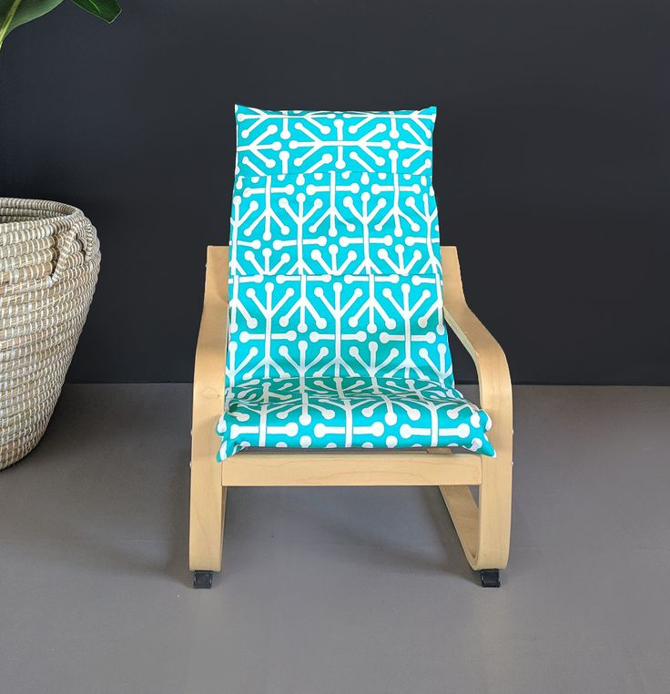 Turquoise Blue Patterned Childs Po 196 Ng Cushion Slipcover In 2019 Slipcovers For