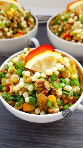 Kuskuslu Yeşil Mercimek Salatası