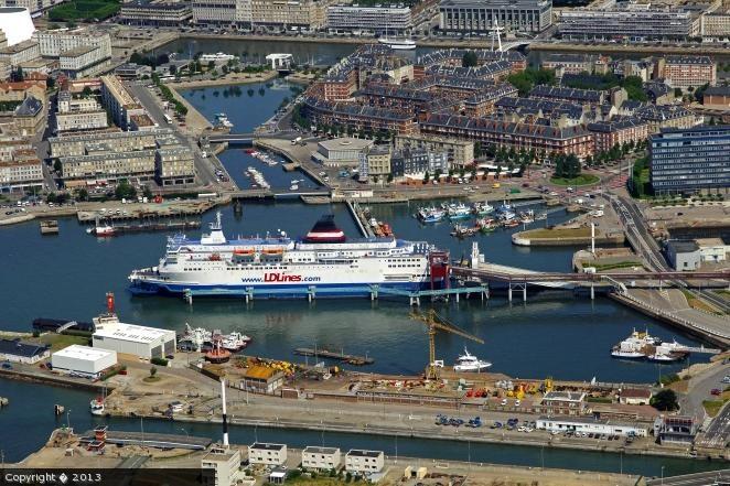 Le Havre ferry, Haute-Normandie.