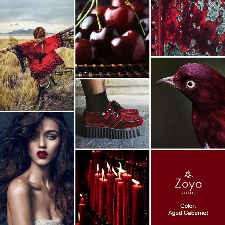 Another Hot FW Color Trend: Aged Cabernet! #zoya #apparel #hot #color #trend #fall #winter #fashion #aged_cabernet