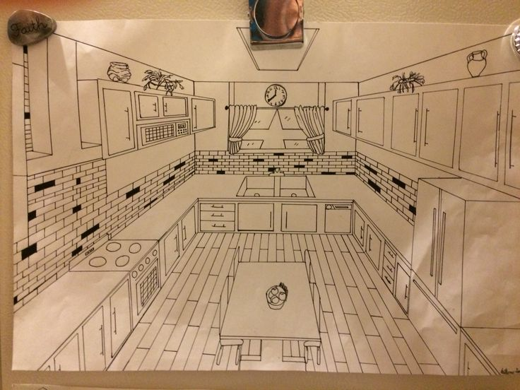 1 point perspective room 09 perspektif pinterest perspective perspective drawing and drawings