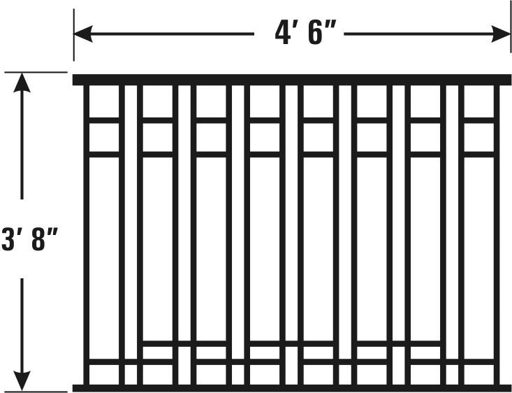 Arts and Crafts Model of Cast Iron Fencing - Nature´s Right Hand