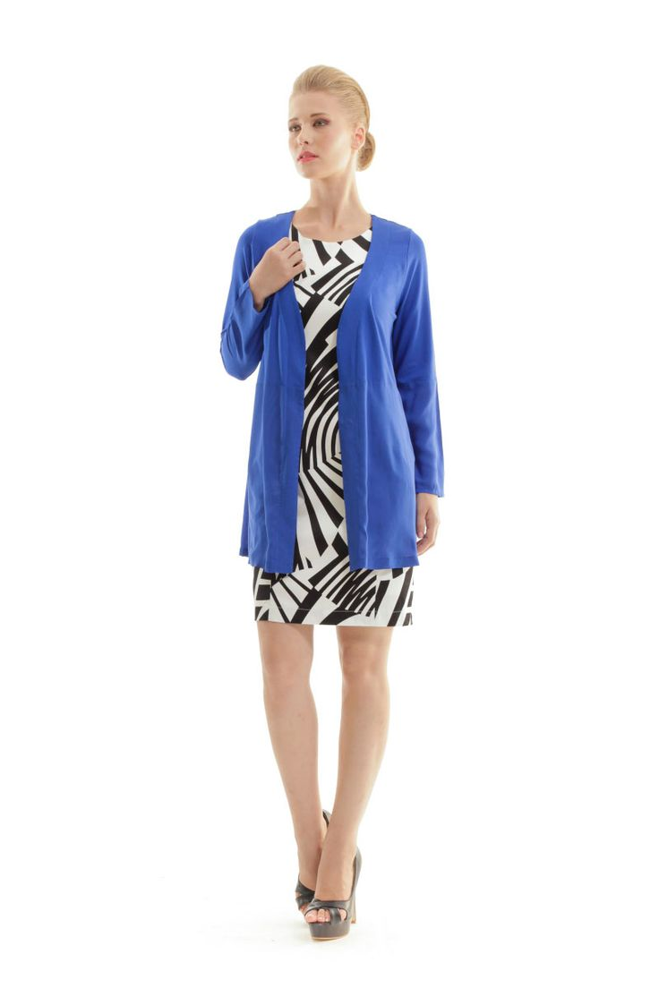 Sheer Detail Cardigan in a vivid blue shade! Your summer breeze could never make you more stylish! Shop pthe cardigan in the link below. #sheer #dress #blue #cardigan #summer #breeze #conquista
