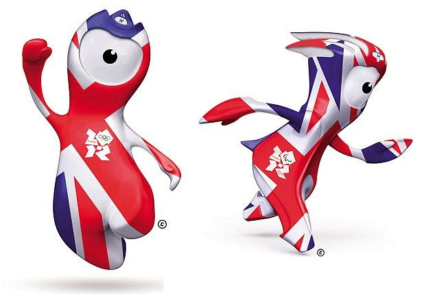 Wenlock and Mandeville - London 2012 Olympic Mascots