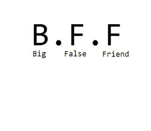 B. F. F...Big, False, Friend
