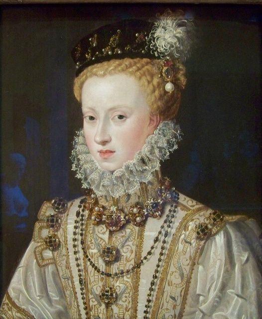 ALONSO SANCHEZ COELLO RETRATO DE DOÑA ANA DE AUSTRIA REINA DE ESPAÑA 1575