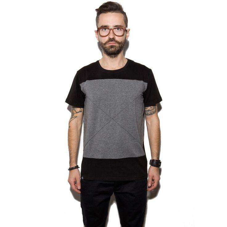 T-shirt męski X TEE, od projektanta The Hive | Mustache.pl