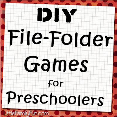 Make your own file folder games with these easy and fun ideas! Great for preschoolers to play with.