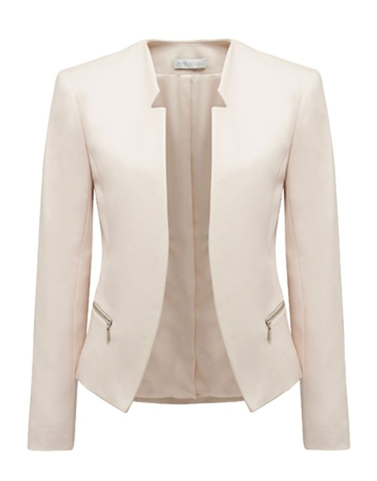 FOREVER NEW   Milana Cut-Away Blazer in Champagne - Women - Style36 #RihannaStyle36