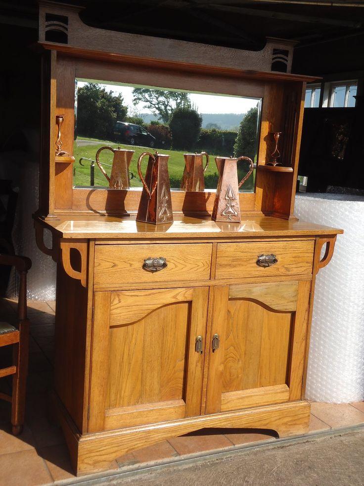 Arts Amp Crafts Golden Oak Sideboard Dresser Arts And