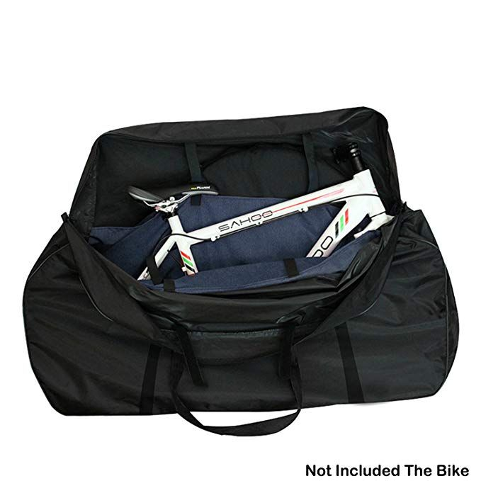 Topnaca Mtb Soft Mountain Road Bikes Travel Case Transport Bag Wheel Carry Bag Bicycle Carrying Case With Fork Protector For Bike Bag Bicycle Bag Bike Carrying