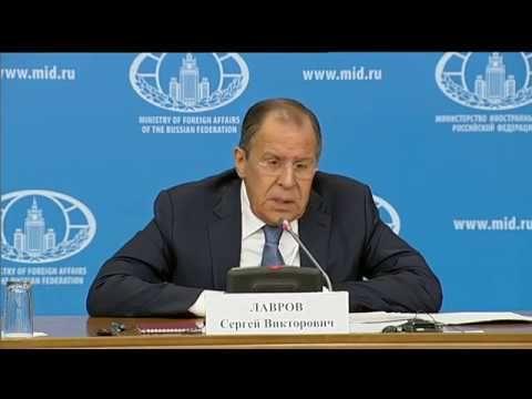 Ежегодная пресс-конференция С.Лаврова (русский язык)