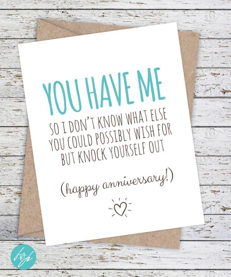 Anniversary card funny boyfriend girlfriend card