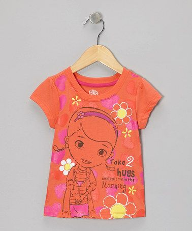 Take a look at this Orange 'Take 2 Hugs' Tee - Toddler & Girls by Doc McStuffins on #zulily today!
