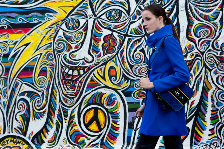 Fay City Diaries features the Women's Fall - Winter 2013/14 collection with the seductive backdrop of Berlin. Coat. http://www.fay.com/it/city-diaries/berlino?country=it