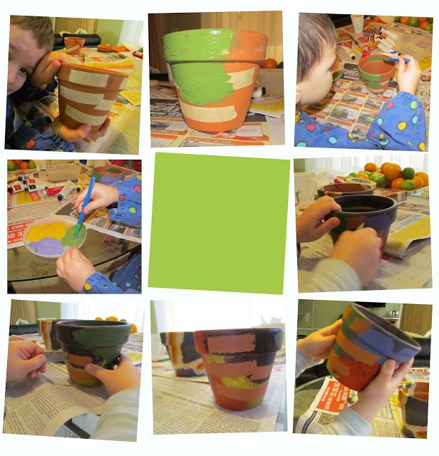Junior Crafternoon with painted pots  #juniorcrafternoon