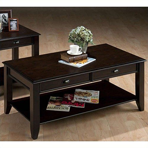 #donations Tapered legs and bold transitional style make the #Jofran Bartley Cocktail Table - Dark Oak a perfect choice for your living space. Designed to work w...