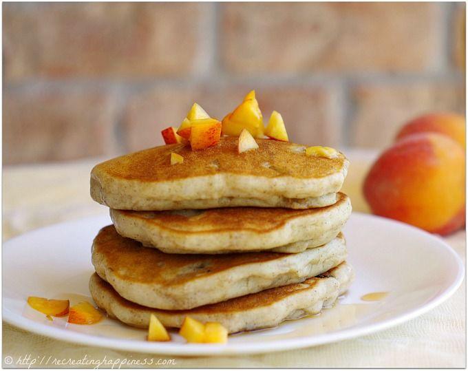 pancakes peach pancakes spiced peaches gluten free pancakes pancake ...