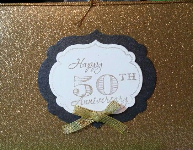 Stampin up 50 th anniversary card