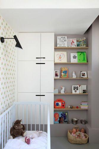 Voor als je wat minder ruimte hebt is dit wel een hele mooie babykamer. Er straalt rust vanuit.