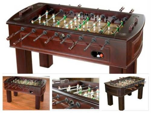 Foosball-Game-Table-Soccer-Adults-Sport-Indoor-Room-Wood-Family-Football-Cabinet