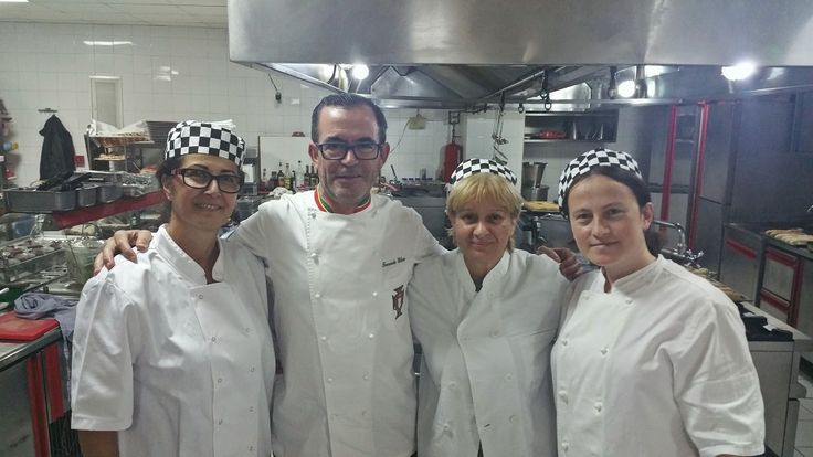 The Chef of Hotel Z Palace and his team with the chef of National Team of Portugal U21 Mr Fernando Heleno.
