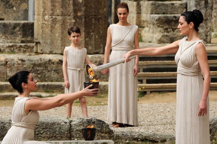THE OLYMPIC FLAME IN ANCIENT OLYMPIA