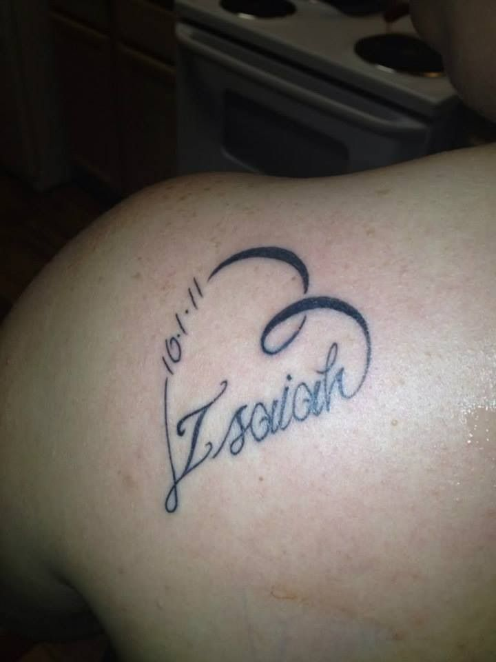 Like the style of this tattoo... Would have my son's name and date of birth... Placement on top of foot.