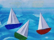sailing with origami sails, could do other projects that include an origami part