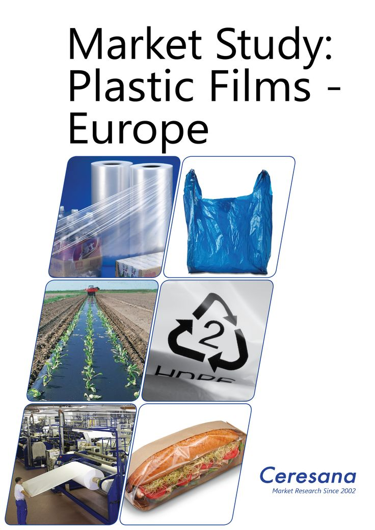 Ceresana has analyzed the European market for plastic films. Included in this market are plastic bags and sacks but also packaging films, shrink and stretch films, agricultural films as well as other films such as construction films.